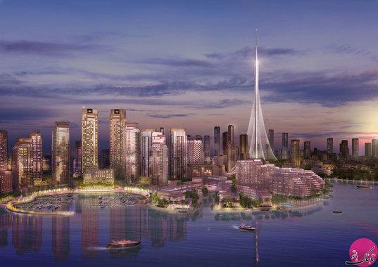 عکس دبی بلندترین ساختمان بلندترین برج جهان بزرگترین برج جهان برج خلیفه اخبار دبی The Tower Dubai