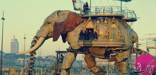 فیل بزرگ، با گنجایش ۵۰ نفر، نانت، فرانسه
