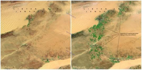 لیبی، آوریل ۱۹۸۷ و آوریل ۲۰۱۰ میلادی، طرح بزرگترین رود دست ساز دنیا، پروژه رودخانه مصنوعی که شبکه ای از لوله های عظیم آب است و سفره های بزرگ آب زیرزمینی را به مناطق مختلف لیبی می رساند.