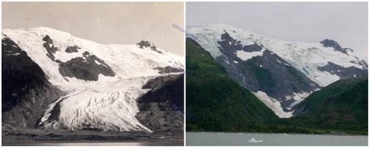 یخچال توبوگان، آلاسکا، ژوئن ١٩٠٦ و سپتامبر ۲۰۰۰ میلادی