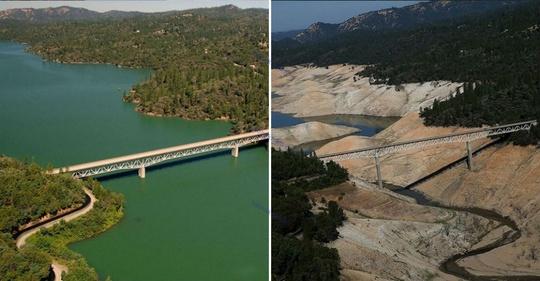 دریاچه ارو ویل، کالیفرنیا، جولای ۲۰۱۰ و اوت ۲۰۱۶ میلادی