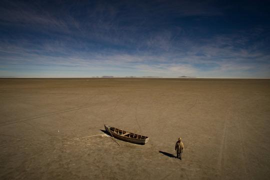 بستر خشک دومین دریاچه بزرگ بولیوی