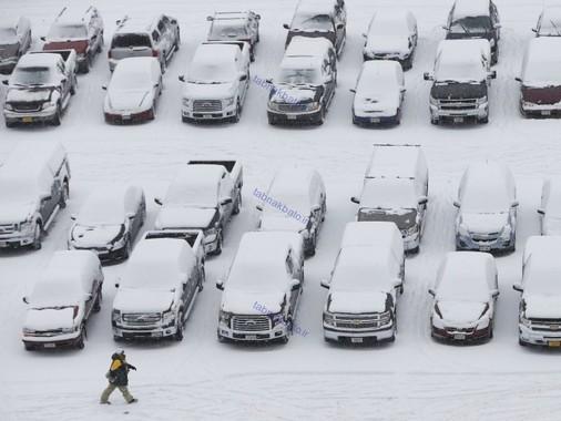 ایالات متحده آمریکا، برف در گرین بای ایالت ویسکونسن