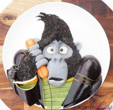 « جانی در کارتون سینگ »، پوره سیب زمینی، برنج وحشی، بادمجان و هویج