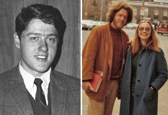 بیل کلینتون در 22 و 26 سالگی