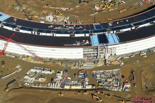 نمایی دیگر از پردیس شماره 2 شرکت اپل در حال ساخت در کوپرتینو؛ عکس هوایی از Noah Berger