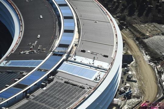 نمایی از پردیس شماره 2 اپل در حال ساخت در بخش کوپرتینو؛ عکس هوایی از Noah Berger