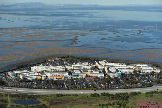 پردیس شرکت فیسبوک (Facebook) در کناره ی خلیج سان فرانسیسکو در منلو پارک؛ عکس هوایی از Noah Berger