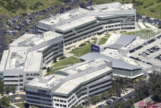 نمایی دیگر از پردیس شرکت یاهو (Yahoo) در سانی ویل؛ عکس هوایی از Noah Berger