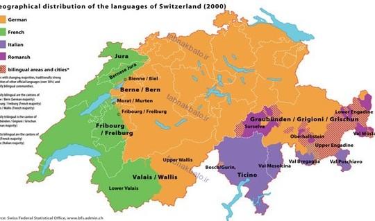 در سوئیس چهار زبان به عنوان زبان های رسمی شناخته می شوند و عبارت هستند از آلمانی، فرانسوی، ایتالیایی و رومانش.