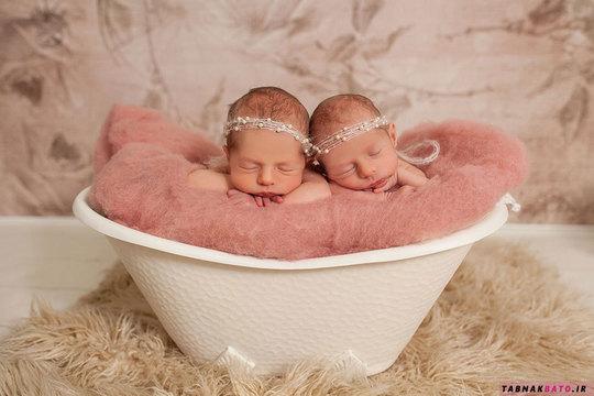 عکس های یک مادر از دو جفت دوقلویش