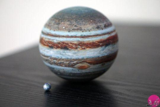 سیاره مشتری و سیاره زمین