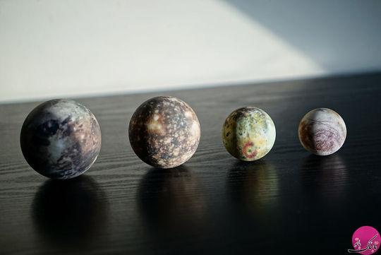 چهار قمر از بزرگترین قمرهای مشتری