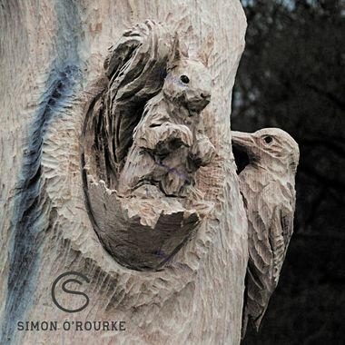 خلق مجسمه های چوبی شگفت آور با اره برقی