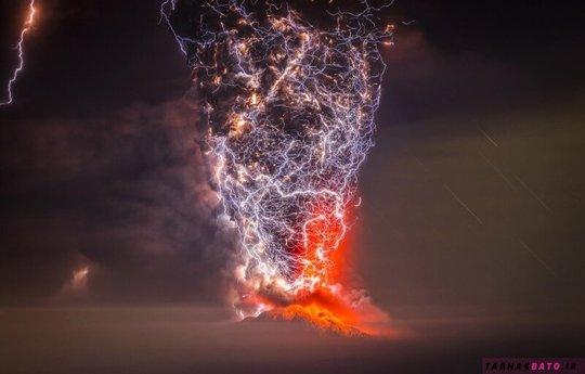 رعد بر دهانه آتشفشان کالبوکو، شیلی