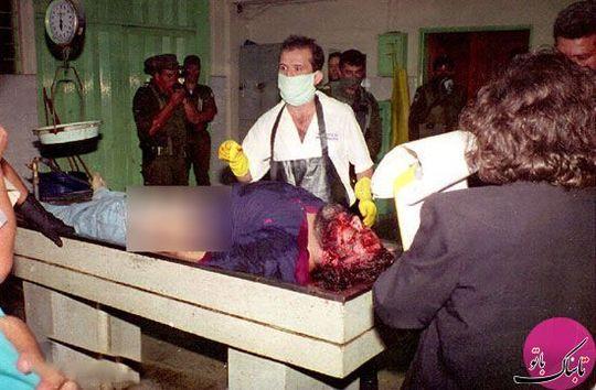 جسد اسکوبار در پزشکی قانونی کلمبیا برای تأیید مرگ