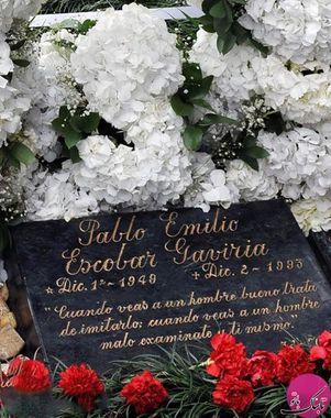 سنگ قبر پابلو إسکوبار در قبرستان زادگاهش