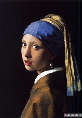 مروارید در آثار هنری جهان،دختری با گوشواره مروارید اثر نقاش برجسته هلندی یوهانس فرمیر(۱۶۳۲-۱۶۷۵)، این أثر از شاهکارهای نقاشی جهان است