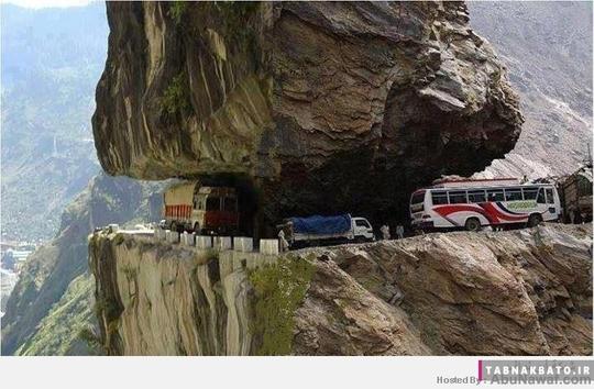 جاده ای خطرناک و دلهره آور در پا تان