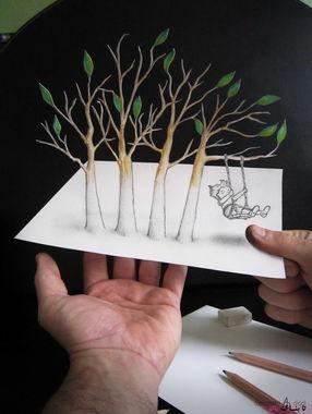 طراحی با مداد: هنر شگفتانگیز آلساندرو دیدی,طرحهای سهبعدی