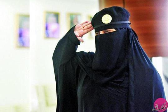 احترام نظامی به سبک زنان سعودی