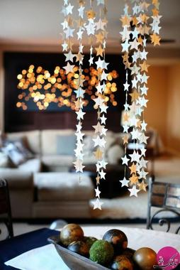 آویزهای ستاره ای زیبا می تواند زینت بخش سفره ی افطار شما باشد