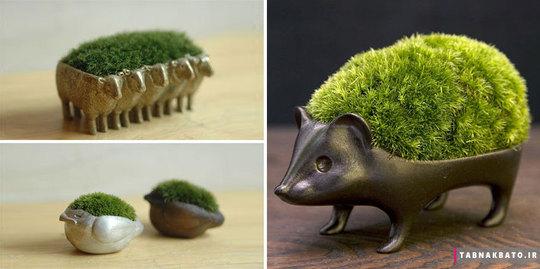گلدانهایی به شکل حیوانات