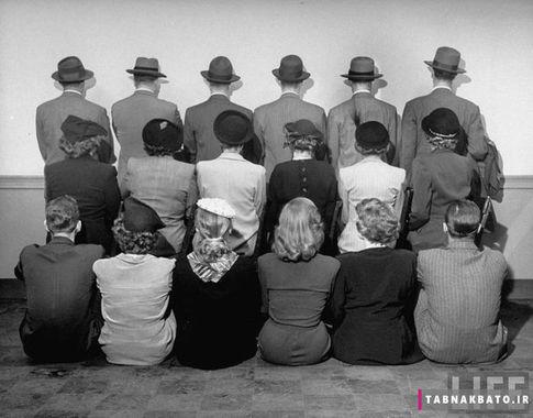 تصویر دسته جمعی از کارآگاهان در یکی از آژانس های تحقیقاتی آمریکا، ۱۹۴۸ میلادی