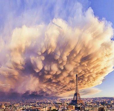 هجوم طوفان به داخل شهر ، پاریس