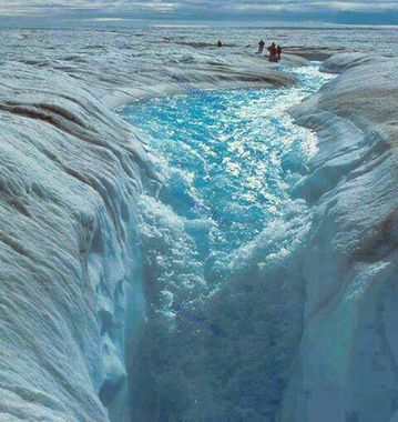 گرینلند - آبشار یخ