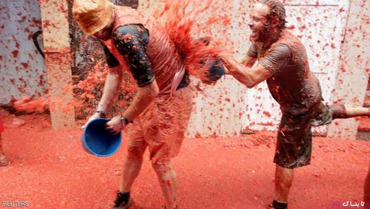 تصاویر دیدنی از جشنواره پرتاب گوجه فرنگی در اسپانیا