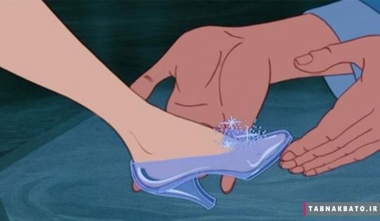سایز کفش سیندرلا مشابه بیرونی نداره و این خیلی عجیبه