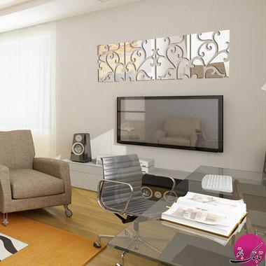 عکس تزئینات داخلی با آینههای دکوراتیو