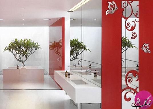عکس تزئینات داخلی با آینههای دکوراتیو بسیار زیبا