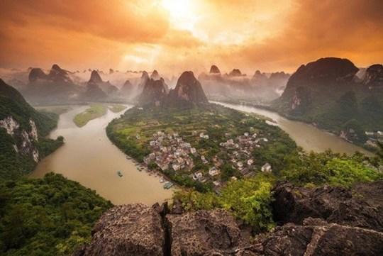 یانگشوئو تاون در استان گوانگشی در جنوب چین.