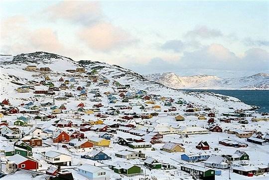 کاکورتوک در جنوب جزیره گرینلند ( گروئنلند).