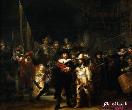یکی از مشهورترین نقاشی ها در جهان؛ گشت شبانه - رامبراند ون رنس