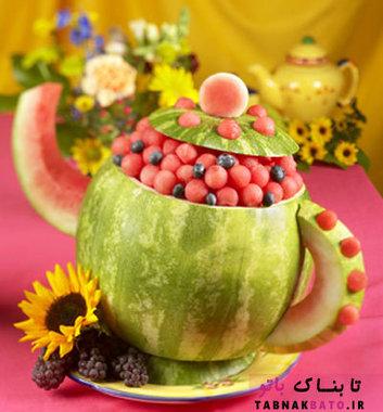 میوه آرایی ساده و شیک