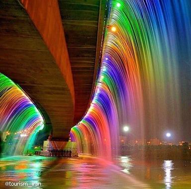 آبشار رنگین كمان در اهواز