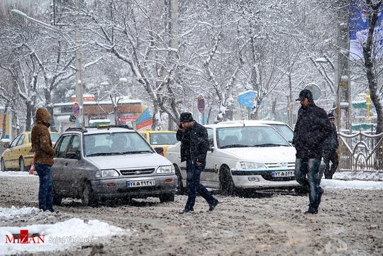 بارش برف در اردبیل +عکس