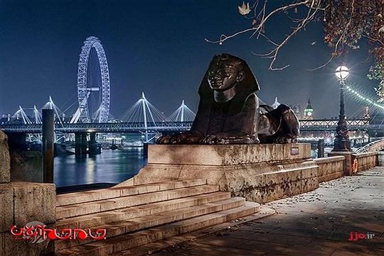نمای از شهر به همراه مجسمه کلوپترا، لندن